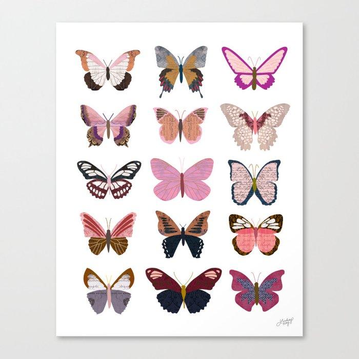 Pink Butterflies Leinwanddruck