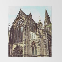 glasgow cathedral medieval cathedral Throw Blanket
