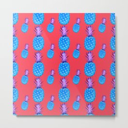 Tropical Punch, Pineapple Art Metal Print