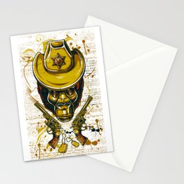 Monkey Cowboy Skull with Twin Guns Stationery Cards