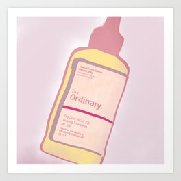 cute skincare inspired by the ordinary Art Print
