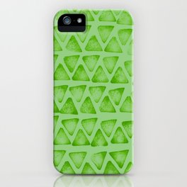 Irregular green iPhone Case
