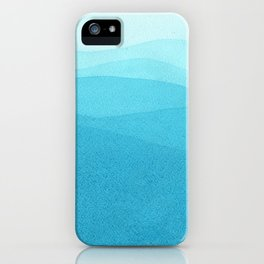 Turquoise waves. iPhone Case