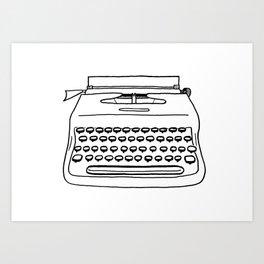 'Typewriter' Art Print