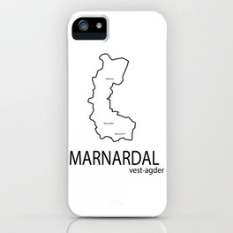 map of marnardal iPhone Case