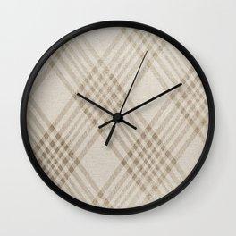 Rich Beige Wall Clock