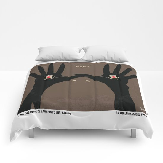 No061 My Pans Labyrinth minimal movie poster Comforters