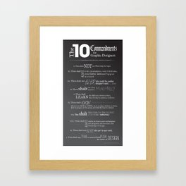 The 10 Commandments for Graphic Designers Framed Art Print