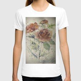 watercolor Rose #6 Original Painting by OLena Art T-shirt
