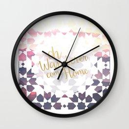 Oh Wanderer Wall Clock