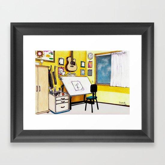 MEMORIES OF MY INNER CHILD 3# Art Studio of my Dreams Framed Art Print