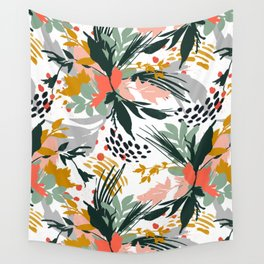 Botanical brush strokes I Wall Tapestry