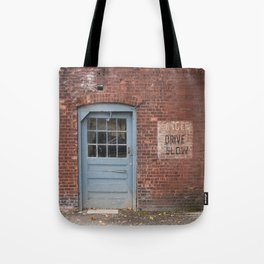 Danger Drive Slow Tote Bag