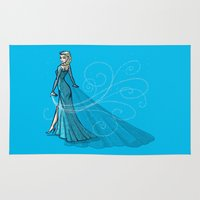 elsa Area & Throw Rugs featuring Elsa by Eva Duplan Illustrations
