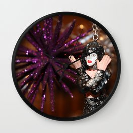 Jazz Hands & Christmas KISSes Wall Clock