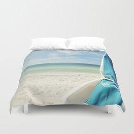 Beach Umbrella Duvet Cover