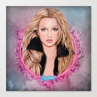 britney spears Canvas Prints featuring Britney Spears by Will Costa