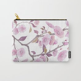 Cherry blossoms, sakura flower decor watercolor painting pink Carry-All Pouch