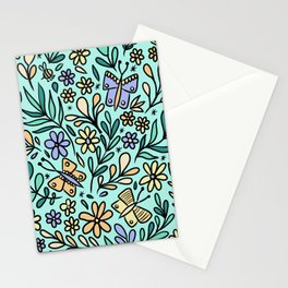 Butterflies and Bee Stationery Cards