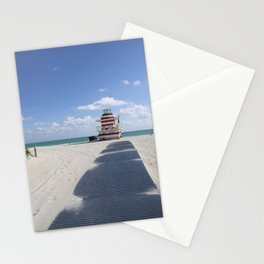 Lifeguard Station at South Beach Miami Stationery Cards