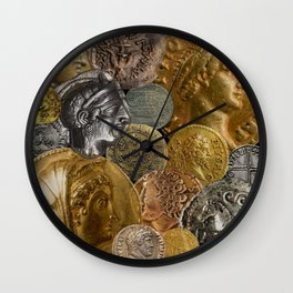 Ancient Coins 2 Wall Clock