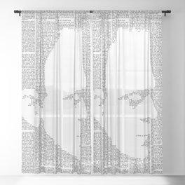 Frankenstein - The Modern Prometheus Sheer Curtain