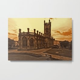 WW2 Bombed out Church Liverpool (Digital Art) Metal Print