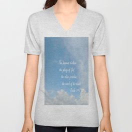 The Heavens Declare Unisex V-Neck