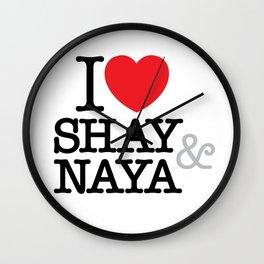 I Heart Shay & Naya Wall Clock