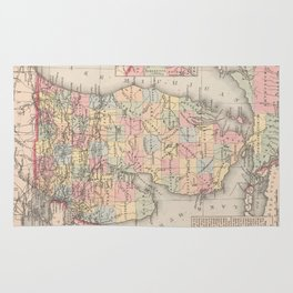 Vintage Map of Michigan (1857) Rug