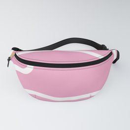 Pink and White Stripes    Abstract Minimal Line Art Fanny Pack