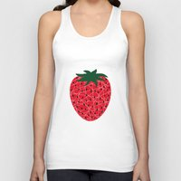 strawberry Tank Tops featuring Strawberry by Dpat Designs