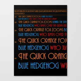 The Quick Orange Fox Canvas Print
