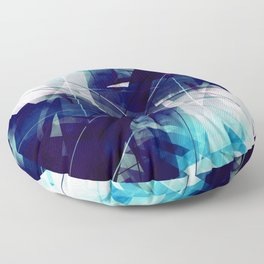 Shades of Blue - Geometric Abstract Art Floor Pillow