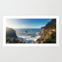 The Sunny Oregon Coast Art Print