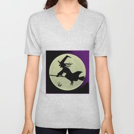 Witch and the Moon Unisex V-Neck