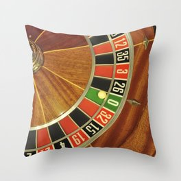 roulette wheel detail Throw Pillow