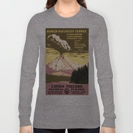 Vintage poster - Lassen Volcanic National Park Long Sleeve T-shirt