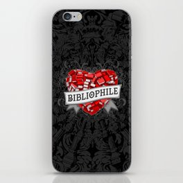 Bibliophile Heart iPhone Skin