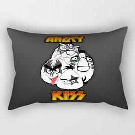 Angry Kiss Rectangular Pillow