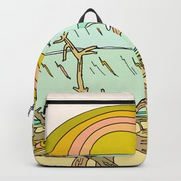 pura vida surf stoke in costa rica Backpack