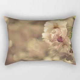 Cherry Blossom Bokeh Rectangular Pillow