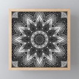 Black and white relaxation Framed Mini Art Print