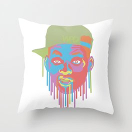 Will Smith Drip Throw Pillow