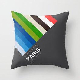 Colors of Paris Throw Pillow