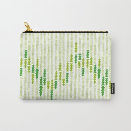 Green Triangle Arrow Trees Carry-All Pouch