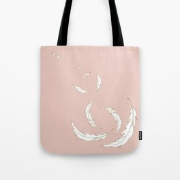 Come fly with me blush illustration Tote Bag
