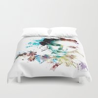 asia Duvet Covers featuring Asia by J. Ekstrom