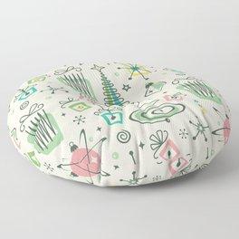 Vintage Holiday Fun! - Cream ©studioxtine Floor Pillow