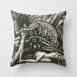 Spring, Engraving from Song of Solomon, 1929 by Cecil Buller Throw Pillow